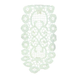 EuroLux Home - Consigned Vintage Belgian Hand-Made Lace Table Runner - Product Details