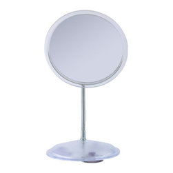 Zadro Products - Zadro 7X Chrome Gooseneck Vanity/Wall Mirror Multicolor - FG27 - Shop for Makeup and Vanity Mirrors from Hayneedle.com! There's almost nowhere that you can't use the Zadro 7X Chrome Gooseneck Vanity/Wall Mirror. Durable suction cups underneath the base hold its body in place and the flexible gooseneck lets you position the 6.25-inch mirror in a way that works best for you. This mirror has a simple modern finish and 7X magnification.About Zadro ProductsZadro Products has been a leading innovator in bath accessories mirrors cosmetic accessories and health products for over 25 years. Among the company's innovations are the first fogless mirror first variable magnification mirror first surround light mirror and more. Not a company to rest on its laurels Zadro continues to adapt to the ever-changing needs of modern life.