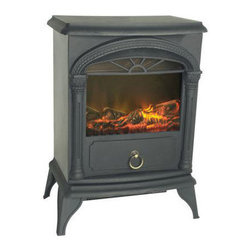 Fire Sense - Fire Sense Vernon Electric Fireplace Stove - Our compact Vernon Electric Fireplace Stove provides a traditional  wood stove look to any room. This handsome unit combines a realistic flame  along with a fully functional 1350 watt heater. Featuring durable composite  construction with multiple heat settings, the patented 3D flame enhances any  indoor setting. CSA approved.