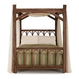 Rustic Canopy Bed #4150 by La Lune Collection - Rustic Canopy Bed #4150 by La Lune Collection