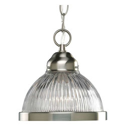 Progress Lighting - Progress Lighting P5080-09 1 Light Mini Pendant Light In Brushed Nickel - Progress Lighting P5080-09 1 Light Mini Pendant Light In Brushed Nickel