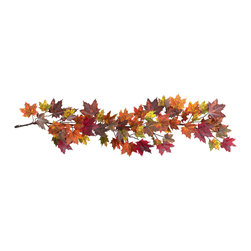 "Nearly Natural - Nearly Natural 60"" Maple Leaf Garland - The chill in the air... the bountiful harvest... falling leaves - it's unmistakably Autumn. At least that's how you'll always feel with this colorful 60"" Maple Leaf Garland. Littered with the multicolored hues that define Maple Leaves in Fall, this Garland perfectly captures what we love about Autumn. And hey, leave one up all year round' so it's always fall somewhere (after all, these won't dry out)."