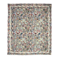 Patch Quilts - Kaleidoscope King Quilt - -Constructed of 100% Cotton  -Machine washable; gentle dry  -Made in India Patch Quilts - QKKALD