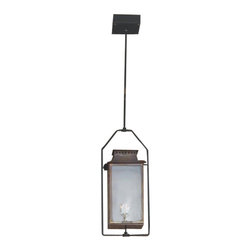 St. James Lighting - Aspen Medium Ceiling Yoke Lantern - Aspen Medium Ceiling Yoke Lantern. The Aspen provides several different options for placement and operation. It can be mounted on the wall with several different wall mounts to choose from or mount it from the ceiling for a romantic touch. This lantern can even be placed on a stand alone post! For an open flame and a more natural look, natural gas or propane gas can be used. A light switch or other device can be used to automatically light the Aspen. If you decide on electric lighting, choose from a Edison Socket or a Candelabra Cluster for the lighting display. For an easy to use, versatile and soft look, the Aspen is one of a kind.