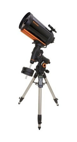 "Celestron CGEM 925 Schmidt-Cassegrain Telescope - Celestron's CGEM-925 features our high-end 9.25"""" Schmidt Cassegrian OTA with XLT coatings mounted on our brand new CGEM™ mount. The Celestron CGEM™ mount has a fresh attractive bold appearance and is capable of carrying Celestron's higher-end SCT optical tubes (up to 11"""") securely and vibration free which is ideal for both imaging and visual observing. Ergonomic Design - CGEM was designed to be ergonomically friendly with large Altitude and Azimuth adjustment knobs for quick and easy polar alignment adjustment. The internal RA and DEC motor wiring provides a clean look and an easy and trouble free set up. Innovation - The CGEM series has a new innovative Polar alignment procedure called All-Star™ (patent pending). All-Star allows users to choose any bright star while the software calculates and assists with polar alignment. Another great feature of the CGEM sure to please astroimagers is the Permanent Periodic Error Correction (PEC) which will allow users to train out the worm gears periodic errors while the mount retains the PEC recordings. Performance - For objects near the Meridian (imaginary line passing from North to South) the CGEM will track well past the Meridian for uninterrupted imaging through the most ideal part of the sky. The CGEM mount has a robust database with over 40 000 objects 400 user defined programmable objects and enhanced information on over 200 objects. Celestron's CGEM mount is the perfect fit between the Advanced Series and CGE Series. Offering the portability of the Advanced Series and the precision of the CGE. High-Performance Features CGEM Computerized Equatorial Mount Ultra sturdy 2"""" steel tripod with Accessory Tray 6x30 Finderscope for easy centering of objects 40 000 object database with 400 user-definable objects and expanded information on over 200 objects Proven NexStar computer control technology Flash upgradeable hand control software and motor control units for downloading product updates over the Internet New """"All-star"""" Polar alignment uses any bright star for a quick and accurate Polar alignment Software Features include: Mount Calibration Database Filter Limits Hibernate five Alignment Procedures and user-defined slew limits Custom database lists of all the most famous deep-sky objects by name and catalog number; the most beautiful double triple and quadruple stars; variable star; solar systems; objects and asterisms Permanent programmable periodic error correction (PEC) - corrects for periodic tracking errors inherent to all worm drives Flash upgradeable hand control software and motor control units for downloading product updates over the Internet Custom database lists of all the most famous deep-sky objects by name and catalog number; the most beautiful double triple and quadruple stars; variable star; solar systems; objects and asterisms Steel worm gear and 90mm pitch diameter brass worm wheel Drive Motors - Low Cog DC Servo motor with integrated optical encoders offer smooth quiet operation and long life. The motor armatures are skewed to minimize cogging which is required fro low speed tracking. Internal Cable wiring for trouble-free setup and transportation Designated six-pin RJ-12 modular jack ST-4 compatible guide port Double line 16-character Liquid Crystal Display Hand Control with backlit LED buttons for easy operation of goto features Autoguide port and auxiliary ports located on the electronic pier for long exposure astrophotography RS-232 communication port on hand control to control the telescope via a personal computer Includes NexRemote telescope control software for advanced control of your telescope via computer GPS-compatible with optional CN16 GPS Accessory Specifications MOUNT: Computerized Equatorial TRIPOD: Adjustable Stainless Steel CD ROM: NexRemote control software with RS232 cable POWER SUPPLY: Car battery adapter TRIPOD WEIGHT: 17 lb (7.71 kg) MOUNT WEIGHT: 41 lb (18.6 kg) COUNTERWEIGHTS: 1 x 17 lb MOTOR DRIVE: Low cog DC Servo motors with encoders both axes COMPUTER HAND CONTROL: Double line 16 character Liquid Crystal Display; 19 fiber optic backlit LED buttons SLEW SPEEDS: Nine slew speeds: 4 °/sec 2 °/sec .5 °/sec 64x 16x 8x 4x 1x .5x TRACKING RATES: Sidereal Solar and Lunar TRACKING MODES: EQ North and EQ South ALIGNMENT PROCEDURES: AutoAlign 2-Star Align Quick Align 1-Star Align Last Alignment Solar System Align SOFTWARE PRECISION: 24bit 0.08 calculation DATABASE: 40 000+ objects 400 user defined programmable objects. Enhanced information on over 200 objects POWER REQUIREMENTS: 12 VDC 1.5 Amp GPS: Optional CN-16 GPS Accessory About Celestron Schmidt-Cassegrain Telescopes Celestron's excellent Schmidt-Cassegrain telescopes are compact and portable and represent the best all-purpose design for a wide variety of uses from terrestrial and deep sky viewing to astrophotography. Catadioptrics use a combination of mirrors and lenses to """"fold"""" (reflect) the light path and form an image. In a Schmidt-Cassegrain the light enters through a thin aspheric Schmidt correcting lens. It then strikes the spherical primary mirror. It is reflected back up the tube and intercepted by a small secondary mirror which reflects the light out an opening in the rear of the instrument where the image is formed at the eyepiece. Catadioptrics are the most popular and most modern type of telescope optical design and are marketed throughout the world in 3.5"""" and larger apertures. Catadioptric telescopes combine the practical advantages of lenses and mirrors while eliminating their disadvantages. They offer the clarity and contrast of refractors with the low aberration of reflectors. Catadioptrics have an average focal ratio of f/10 which is wide enough for all types of photography. They are also easier to maintain because all optical elements are solidly mounted and rigidly collimated. Catadioptric telescopes provide the best possible combination of light gathering power long focal length portability and affordability. Schmidt-Cassegrain Advantages Very versatile best all-purpose telescope design Combines the optical advantages of both lenses and mirrors while eliminating their disadvantages Excellent optics and razor sharp images over a wide field Excellent for deep sky observing and astrophotography as well as terrestrial viewing Very good for lunar planetary and binary star observing Focal ratio generally around f/10 it also has the best near focus capability of any type of telescope Closed tube design reduces image-degrading air currents Extremely compact and portable Easy to use durable and virtually maintenance free Large apertures at reasonable cost and less expensive than equivalent aperture refractors More accessories available than with other types of telescopes Schmidt-Cassegrain Disadvantages More expensive than Newtonians of equal aperture Slight light loss due to secondary mirror obstruction compared to refractors The Maksutov-Cassegrain is similar to the Schmidt-Cassegrain with essentially the same advantages and disadvantages. It uses a thick meniscus correcting lens with a strong curvature and a secondary mirror that is usually an aluminized spot on the corrector. Celestron All-Star Polar Alignment Technology All-Star Polar Alignment TechnologyGerman Equatorial Mounts (GEM) have long since been recognized as the mount of choice for astrophotography. Needing to track in only one axis for long exposures; adjustable counterweights and tube position for perfect balance the GEM has few short comings when it comes to imaging. In order to do long-exposure astro-imaging an equatorially aligned telescope is needed to allow your telescope to properly track the motion of the sky. However accurate tracking still depends on an accurate polar alignment. Even with a visible star very near the North Celestial Pole (NCP) the true celestial pole can be a very elusive place to find without assistance. Now select Celestron mounts can utilize a new innovative Polar alignment procedure called All-Star™. All-Star allows users to choose any bright star while the software calculates and assists with polar alignment. Here's how it works. Once your telescope is aligned with two bright star All-Star allows you to choose any bright star listed in the NexStar hand control to assist in accurately aligning your telescope's mount with the North Celestial Pole. Using the telescope's Sync function the mount is able to point and center a bright star with a high degree of accuracy. Once centered the mount will point the telescope to the exact position that the star should be if the mount were precisely polar aligned. By simply adjusting the mounts altitude and azimuth controls to re-center the star in the center of the eyepiece you are actually moving the mounts polar axis to the exact position of the North Celestial Pole. FAQ Can I use Polaris to polar align my telescope?Since Polaris is very close to the NCP and not very bright it is actually not a recommended star for the """"All-Star"""" method. The advantages of being able to use stars other than Polaris are two fold: Polaris is not always visible. So not only can you use a variety of other stars but they are also brighter and more prominent.The star you choose will be farther away from the NCP thus allowing for greater accuracy when centering the star in your eyepiece. Which stars are best to use for polar aligning?For best results choose a bright alignment star that is near the Meridian preferably close to the celestial equator. Try to avoid stars that are close to the west/east horizon or directly overhead because they can be more difficult to center using the mount's altitude and azimuth controls. Also stars too near the celestial pole are less accurate than those further away. Will I lose my alignment after I polar align?No the mount will retain its alignment but some amount of accuracy may be compromised depending on how much the mount has been moved during polar alignment. Although the telscopes tracking may be very good pointing accuracy may need to be improved especially if you are trying to located small objects on a ccd chip. What are the steps to polar align my telescope using """"All-Star"""" polar alignment? Align the telescope with the sky using the """"Two-Star Alignment"""" method. Select a suitable bright star from the Hand Control's database and slew the telescope to the star. Press the Align button and select Polar Align => Align Mount from the list. The telescope will then re-slew to the alignment star and ask you to center it in the eyepiece in order to """"Sync"""" on the star. The telescope will slew to the position that the star should be if it were accurately polar aligned. Use the mounts altitude and azimuth adjustments to place the star in the center of the eyepiece and press the Align button. Update the telescope's star alignment if necessary."