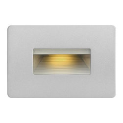 Hinkley - Hinkley 1-Light Titanium Step Light - 58508TT - This 1-Light Step Light is part of the Led Step Collection and has a Titanium Finish. It is ADA Compliant, Outdoor Capable, and LED.