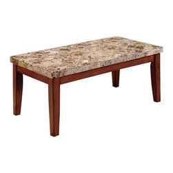 Steve Silver Company - Steve Silver Company Montibello Brown Rectangular Coffee Table with Marble Top - Steve Silver Company - Coffee Tables - MN700C - The Montibello Marble Coffee table comes complete with a
