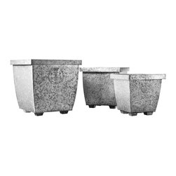 Privet House Galvanized Planters - Large planters can drain your budget, but these galvanized versions are inexpensive without looking flimsy. I'd use the largest size to hold a couple topiary trees on either side of a front door.