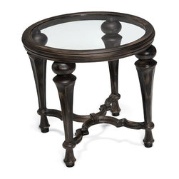 Woodard Landgrave - Veracruz Round End Table with Glass Top (Black) - All products are made to order. Orders cannot be cancelled after 5 calendar days. If order is cancelled after 5 calendar days, a 50% restocking fee will be applied.