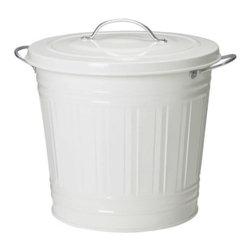 IKEA of Sweden - KNODD Bin with lid - Bin with lid, white