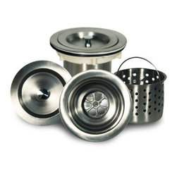 Nantucket Sinks - Nantucket Sink NS35CD Sink Drain - This stainless steel kitchen sink drain has built in removable basket.  It allows all your small food waste to be collected and thrown away.