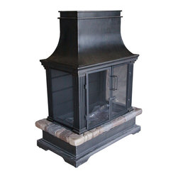Bond - Bond 66594 Sevilla Wood Burning Fire Place - The Sevilla Wood Burning Outdoor Fireplace is the perfect answer for extending your outdoor entertaining season. Your guests will adore this delightful and cozy fireplace as you relax in front of the flames on your deck or patio. The radiant warmth and crackle of the fire is sure to be the perfect cure for those end of summer blues!