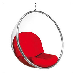 Fine Mod Imports - Bubble Hanging Red Accent Chair - Features: