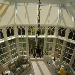 Conservatory Shades - Multi-bay roof shades - Photo by James Licata