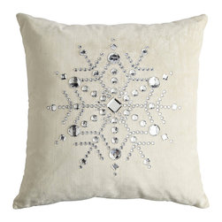 Velvet Snowflake Pillow - I am a fan of this white snowflake pillow. It is velvety soft and will look great decorating the couch or bed.
