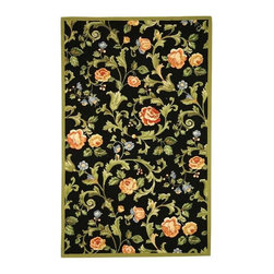 Safavieh - Safavieh Chelsea Country & Floral Hand Hooked Wool Rug X-6-B013KH - 100% pure virgin wool pile, hand-hooked to a durable Cotton backing. American Country and turn-of-the-century European designs. This collection is handmade in China exclusively for Safavieh.