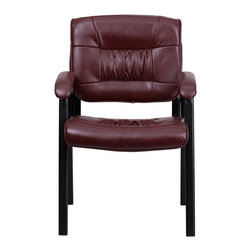 Flash Furniture - Flash Furniture Office Chairs Leather Side Chairs X-GG-GRUB-4041-TB - Place this leather chair in your reception area for your visitors to be welcomed in comfort or in the office as a side chair for guests. The thick padded seat and back will make your guests feel very comfortable while business is being conducted. When in need of side chairs for the home or workplace this stylish chair is sure to be the perfect fit. [BT-1404-BURG-GG]