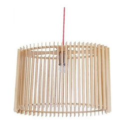 ParrotUncle - Natural Wooden Drum Ceiling Pendant Lighting - The dessert cake droplight is the best seller in our store because of its unique structure appearance and meticulous workmanship.It made from basswood and plywood which don't have any environmental pollution.