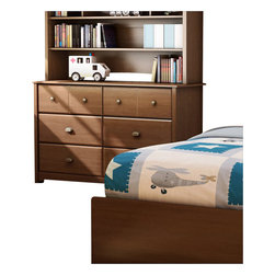 South Shore - South Shore Nathan Kids Double Dresser in Sumptuous Cherry Finish - South Shore - Dressers - 3356027 - The Nathan Double Dresser is crafted from engineered wood products in a Sumptuous Cherry finish. This kid's dresser features sculpted lines, metal handles, cut-out feet and six drawers to store all your kid�s clothing, toys and other valuables. With a seamless traditional style, the Nathan Double Dresser is a perfect addition to your kid's bedroom.