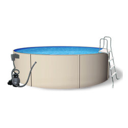 Blue Wave - Blue Wave Round Blue Laggon Pool Package - 18 ft x 52 Inch - Blue lagoon economical steel above-ground pool package combines the durable strength of steel at this great price! The new blue lagoon pool will give you and your family many years of outdoor pool fun. This revolutionary new pool has all the features of a more expensive pool, at a very economical price: super strong - steel construction _ made of high quality treated steel, this pool will outlast plastic or vinyl pools. Fully functional skimmer - unlike Intex skimmers the blue lagoon's skimmer is fully functional. It will keep your pool free of surface debris and standard automatic cleaners and manual vacuums easily hook up to the pools return. Blue lagoon is easy to clean and maintain. Quality pump and filter system with multiport valve - blue lagoon comes standard with a easy to use sand filter system and high performance pumps. They ensure proper filtration so your pool is easy to keep crystal clear and germ free. Corrosion protection - all steel parts are protected by a zinc alloy coating that gives blue lagoon superior corrosion resistance. Backed by a 15-year warranty. Blue lagoon has all the quality features that usually cost hundreds of dollars more. The pool is easy to install and it comes with complete installation instructions. Round sizes only. Get your family into a quality blue lagoon pool at this great price. Our package comes complete with: super strong steel wall pool. Fully functional skimmer and return. Blue overlap liner. High quality sand filter system and pump. A-frame ladder. Maintenance kit.