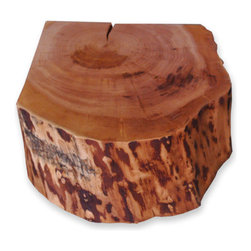 Willow Coffee/Side Table 3 - Chunks of wood make perfect side tables or stools in a rustic cabin. You could have a few of them scattered around a fireplace for makeshift seating.