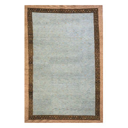 Momeni - Momeni Desert Gabbeh Dg01 Slate Rug - Made in the tradition of Gabbehs from the foothills of Iran, our Desert Gabbeh collection is hand-knotted in India of 100% wool, but given a modern twist with its warm color palette and designs.