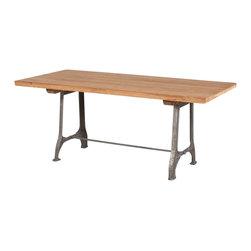 Pelton Dining Table - *Materials: Steel, Teak