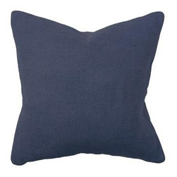 Silver Nest - Midnight Blue Down Pillow- 22x22 - 100% Linen front & back with Natural Piping. Set of two pillow covers, back with Coconut Botton closure. Feather inserts included. Inserts are 95/5. Priced individually, must be sold as set of 2.