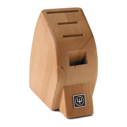 "Wusthof - Wusthof 4-Slot Mobile Knife Block - The Wusthof 4 Slot Mobile studio block is compact The rubber base of the block provides stability and prevents scratching to your countertop. Designed for small ""studio"" size kitchens, taking up a minimal amount of countertop space. The slots can store a pair of kitchen shears and 3 knives. The largest slot can store a cook's or chef's knife up to a 6-inch's, while the other two slots can accommodate smaller knives such as a utility knife."
