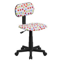 Flash Furniture - Multi-colored Dot Printed Computer Chair - This attractive design printed office chair will liven up your classroom/ dorm room/ home office or child's bedroom. If you're ready to step out of the ordinary then this computer chair is for you!