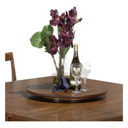Jofran - Jofran 477-22LS Saddle Brown Oak Lazy Susan - Combining traditional details with modern designs, Jofran has a collection to compliment any home decor. This saddle lazy susan belongs to 477 series - saddle brown oak collection by Jofran inc. The classic formulas of color combinations are not valid in Jofran furniture territory: Here is ruled by laws solely of your own preferences and fantasies. Huge selection of colors in combination with a wide choice of shapes and sizes allow you to find among this variety precisely the furniture you've always wanted to see in your home. Jofran furniture offers high quality, casual furniture pieces that are constructed from premium Asian hardwoods, and finished with beautiful veneers. Durable materials and quality assembly will help your furniture to serve for many years and will not let you be disappointed in your choice.