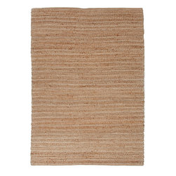 Jaipur Rugs - Natural Solid Pattern Jute/Cotton Beige /Brown Rug - HM01, 5x8 - Handwoven in Jute and soft fibers and materials like; Chenille, rayon yarn and cotton, the Himalaya collection has a variety of textures and looks, all at home in a variety of living environments.