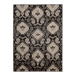 Nourison - Nourison Kindred KIN01 Rectangle Rug - Create a warm and dynamic environment with this stunning collection that features thrilling colors and dramatic over-scale motifs. Expertly crafted with a dense cut and loop pile construction for extraordinary texture and enduring quality.Dimensions: 2.3' width by 3.9' length; 5' width by 7' length; 8' width by 10' lengthManufactured by Nourison