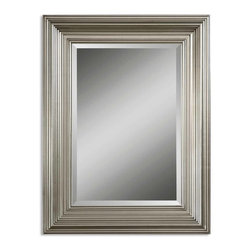 Uttermost - Mario Silver Mirror - Want to feel like Jean Harlow or another glamorous movie star from the 1930s? Hang this gorgeous mirror in your home. Pick a place no one would expect to see this lovely, silver-leaf finished mirror and watch what happens. In your bathroom for example. Expect frequent hand washing.