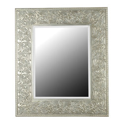 Kenroy - Kenroy 60035 Lafayette Wall Mirror - Intricately carved, with expensive looking detail, this mirror is reminiscent of a treasured piece of Victorian jewelry.