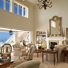 Beach Style Living Room by David Phoenix Interior Design