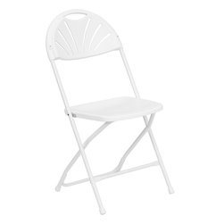 Flash Furniture - Flash Furniture Hercules Series 800 lb. Capacity Plastic Fan Back Folding Chair - Plastic folding chairs are the choice of many event planners for their lightweight design, ease of cleaning, and versatility among events. This portable folding chair can be used for Banquets, Parties, Graduations, Sporting Events, School Functions and in the Classroom. This chair will be the perfect addition in the home when in need of extra seating to accommodate guests. Constructed of lightweight textured polypropylene and a strong steel frame, these folding chairs will suit most any occasion.