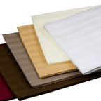 Luxor Linens - Valentino Stripe Pillow Cases, Standard, Wine - Keep your bed looking fresh with our complimenting Valentino pillow case set. The handsomely embroidered Egyptian import is pure elegance plain and simple. Made from 100% pure Egyptian cotton, with a luxurious 1200 Thread Count and a touch that's as soft-as-silk.