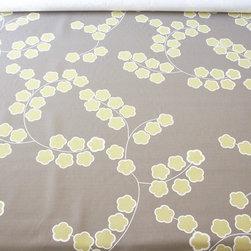 Organic Fabric - Cherry Blossom - Certified Organic Cotton/Hemp blend, 8-11oz, Printed in USA