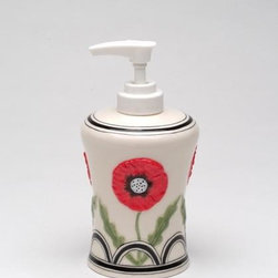 ATD - 4.63 InchMulticolored Wild Poppy Flower Design Lotion/Soap Dispenser - This gorgeous 4.63 InchMulticolored Wild Poppy Flower Design Lotion/Soap Dispenser has the finest details and highest quality you will find anywhere! 4.63 InchMulticolored Wild Poppy Flower Design Lotion/Soap Dispenser is truly remarkable.