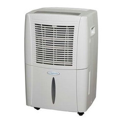 Heat Controller - Dehumidifier E-Star 30 Pint - 20 Pint Dehumidifier E-Star 115v.  Comfort-Aire's BHD-301-G portable dehumidifier are designed to efficiently and quietly remove moisture from the air- and to look good doing it (30 pints per day).  Compact, sleek cabinets are stone white in color and roll easily from room to room on durable casters.  All Comfort-Aire portable dehumidifiers come charged with the environmentally-friendly refrigerant R-410A with low temperature operation to 41 .