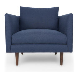 Bryght - Blue Mid-Century Modern Armchair | Carl Mid-Century Modern Furniture - Mid century inspired design, the Carl armchair is as comfortable as it is decadent.
