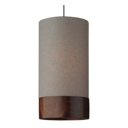 Tech Lighting - Topo Pendant by Tech Lighting - A feat of delicate craftsmanship. The Tech Lighting Topo Pendant is a modern cylinder shade elevated to a richer, warmer dimension with the sophisticated combination of fabric and wood. The bands of wood trim are spline-joined around the circumference of the shade. Choose from several mounting options. Tech Lighting, headquartered in Skokie, IL, is known for their innovative lighting systems and exquisite lighting designs. Their passion for art, sophistication and imagination is balanced by rigorous testing and quality control in the creation of their line-voltage and low-voltage lighting, including the Tech Lighting FreeJack and monorail systems and track heads.