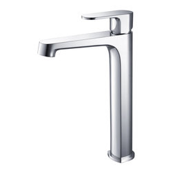 Fresca - Fresca Gravina Single Hole Vessel Mount Bathroom Vanity Faucet - Chrome - This single hole vessel faucet is made from heavy duty brass with a chrome finish.  Features ceramic mixing valve for longevity and watertight functionality.