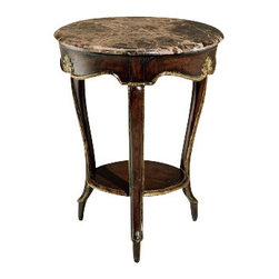 "Marge Carson - Marge Carson Vouvray Side Table - Marge Carson Living Room Vouvray Side Table. Width: 24"" Depth: 24"" Height: 28""   Please allow up to 8 weeks for shipping"