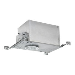 Juno Lighting Group - 4-inch Recessed Lighting Kit with White Trim - IC44N/440-WH KIT - This recessed lighting kit features 4-inch insulation-ready housing and an enclosed baffle trim with a white finish. Approved for wet locations when an outdoor-rated PAR30 lamp is used. The housing can be completely covered with insulation. It is air-tight which reduces heating and cooling costs. The hangers are expandable up to 25 inches. Takes (1) 75-watt halogen PAR30 bulb(s). Bulb(s) sold separately. Damp location rated.