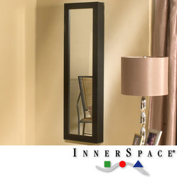 InnerSpace Luxury Products - Dalton Home Collection Mirrored Jewelry Wall Armoire - Keep your ...