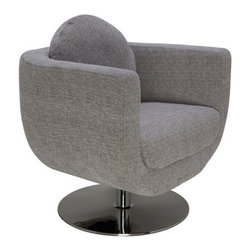 Accent Decor - Simone Lounge Chair - This sleek chair is both modern and sophisticated. Relax in style with this Simone Lounge Chair.