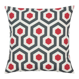 Look Here Jane, LLC - Magna Red Pillow Cover - PILLOW COVER