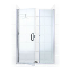 "Coastal Shower Doors - Illusion Frameless | Hinge Door & Panel | Coastal Shower Doors - Frameless glass shower doors at an affordable Price!  The Illusion Series is the ultimate DIY solution for all glass seamless shower doors.    An adjustable and affordable alternative to high end heavy glass frameless shower doors by utilizing a combination of 1/4"" and 3/8"" tempered glass."